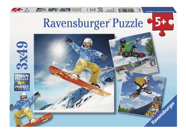 Afbeelding van Ravensburger Puzzel 3-in-1 Extreme sport from DreamLand