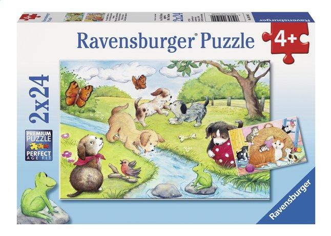 Afbeelding van Ravensburger Puzzel 2-in-1 Spelende viervoeters from DreamLand