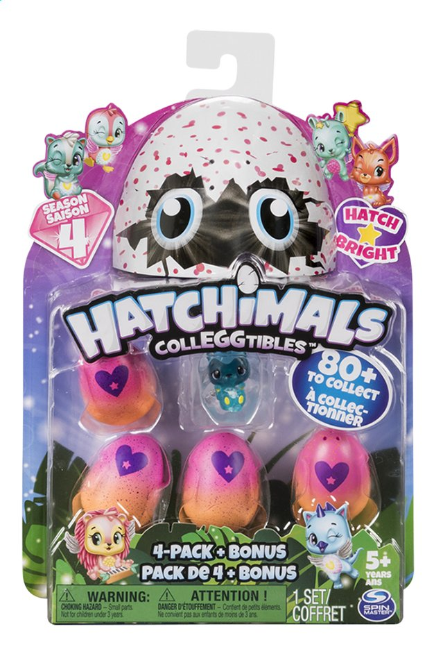 Afbeelding van Hatchimals CollEGGtibles 4-pack + Bonus Season 4 from DreamLand