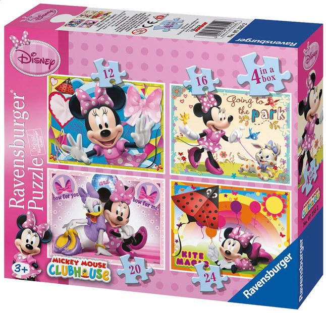 Afbeelding van Ravensburger 4-in-1 meegroeipuzzel Minnie Mouse from DreamLand