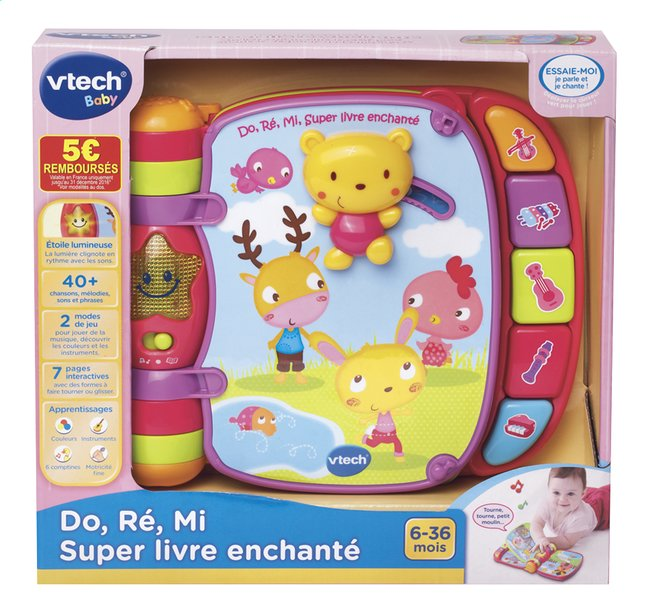 Vtech Do Re Mi Super Livre Enchante Rose