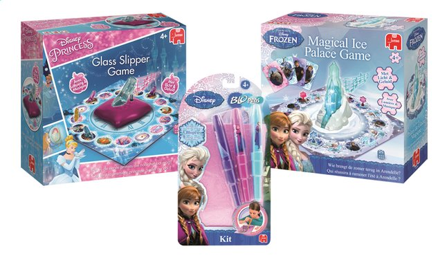 Image pour Disney Princess La Pantoufle Magique + La Reine des Neiges Magical Ice Palace Game + La Reine des Neiges Blopens Kit à partir de DreamLand