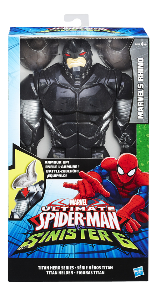 Afbeelding van Hasbro Figuur Ultimate Spider-Man vs The Sinister 6 Marvel's Rhino met pantser from DreamLand