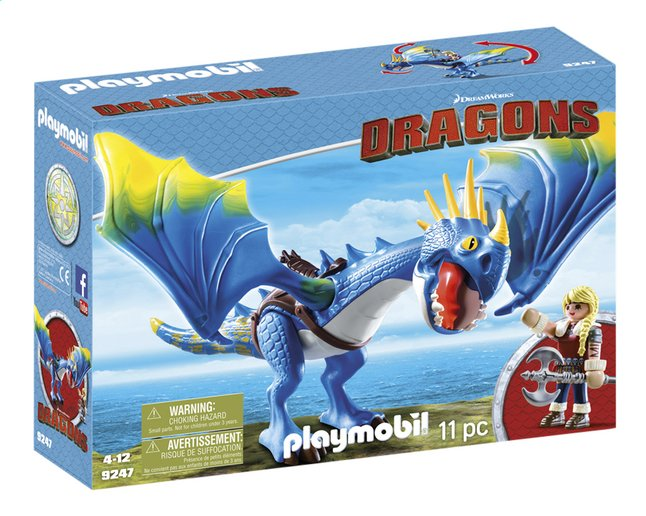 PLAYMOBIL Dragons 9247 Astrid et Tempête