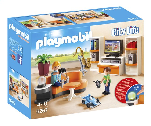 Playmobil city life 9267 salon quip dreamland for Salle a manger playmobil city life