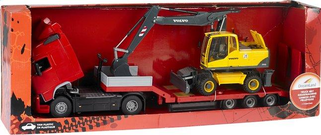 Afbeelding van DreamLand truck met graafmachine from DreamLand