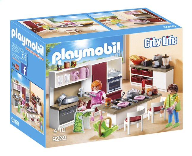 playmobil city life 9269 cuisine am nag e dreamland