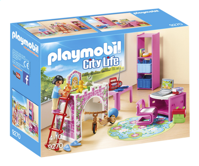 playmobil city life 9270 kinderkamer met hoogslaper. Black Bedroom Furniture Sets. Home Design Ideas