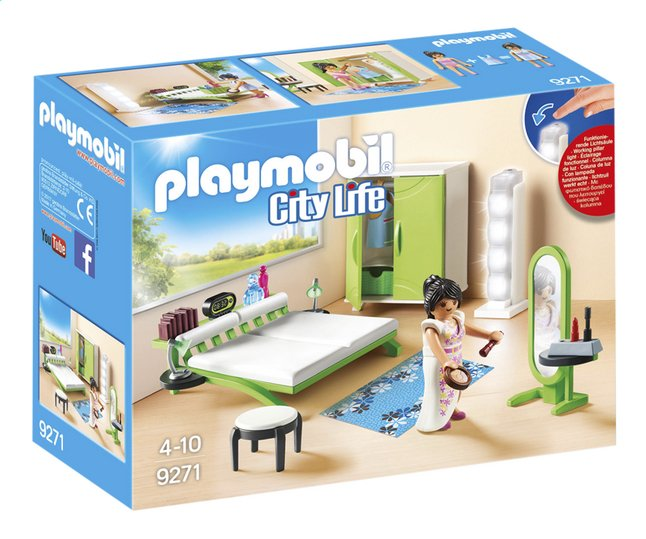 playmobil city life 9271 slaapkamer met make up tafel. Black Bedroom Furniture Sets. Home Design Ideas