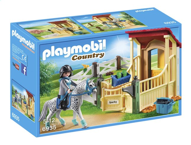 PLAYMOBIL Country 6935 Appaloosa met paardenbox
