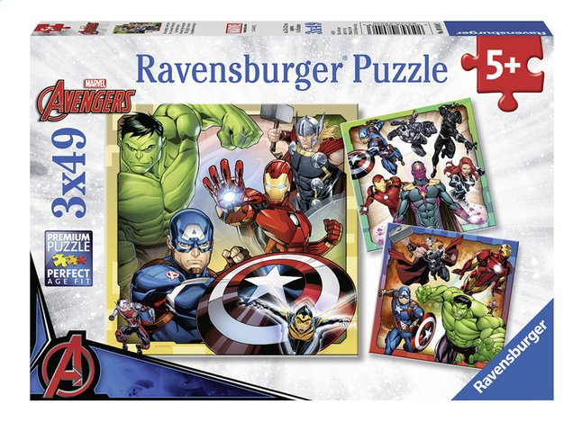 Ravensburger puzzel 3-in-1 The Avengers