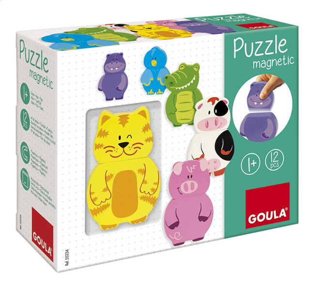 Afbeelding van Goula magnetische puzzel Dieren from DreamLand