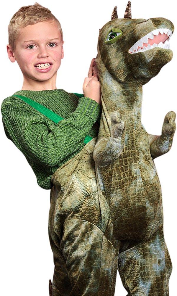 Verkleedpak Ride on Dino één maat