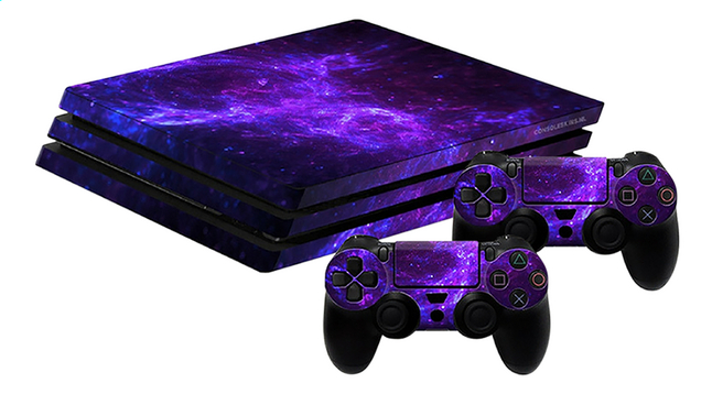 ps4 pro skins pour console 2 skins pour manettes dark. Black Bedroom Furniture Sets. Home Design Ideas