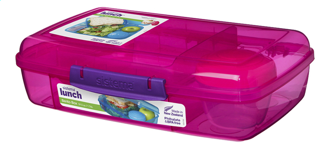 Afbeelding van Sistema lunchbox Bento Box Duo roze from DreamLand