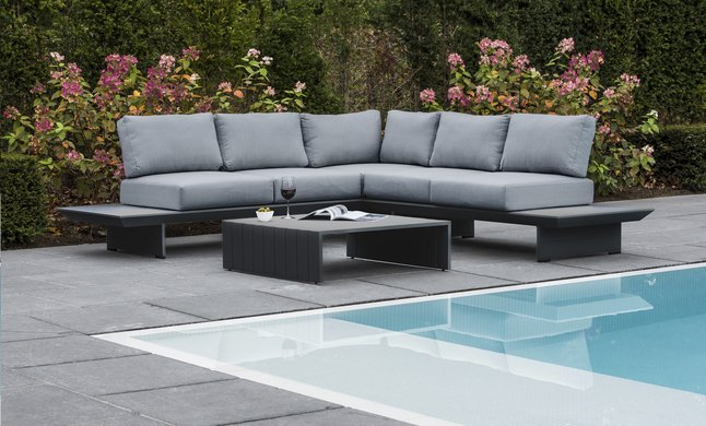 Afbeelding van Ocean Loungeset Averna charcoal from DreamLand