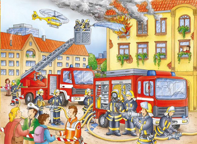 Image pour Ravensburger puzzle Nos pompiers à partir de DreamLand