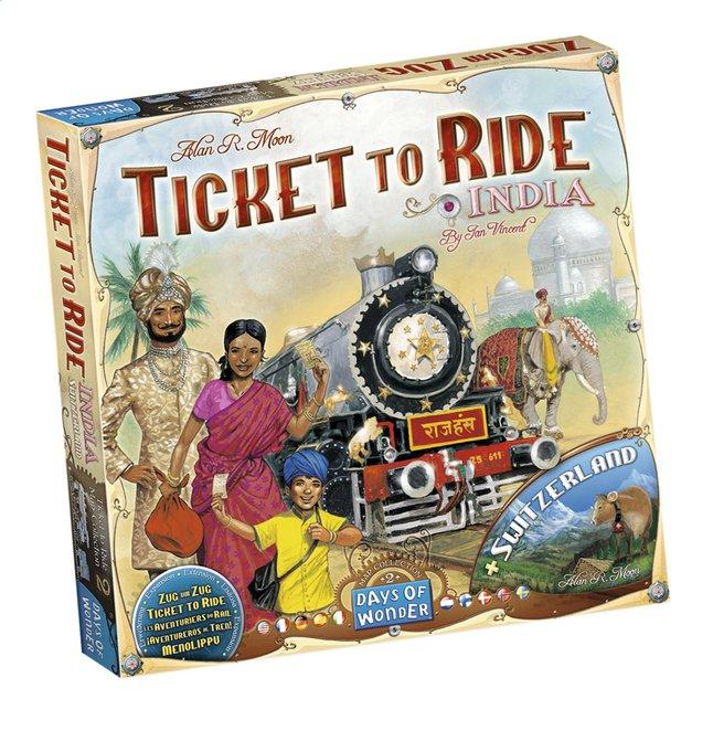 Afbeelding van Ticket to Ride uitbreiding: India en Zwitserland from DreamLand