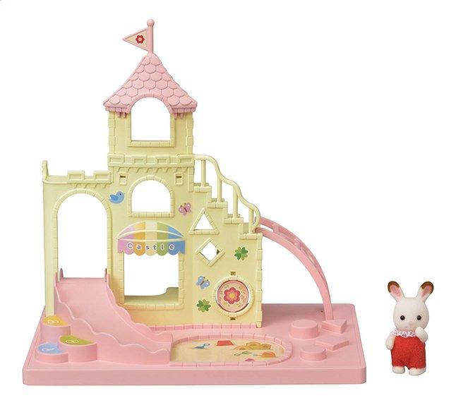 Sylvanian Families 5319 - Le château et Crème, bébé Lapin Chocolat