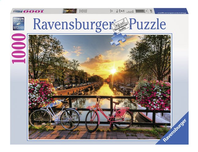Afbeelding van Ravensburger Puzzel Fietsen in Amsterdam from DreamLand
