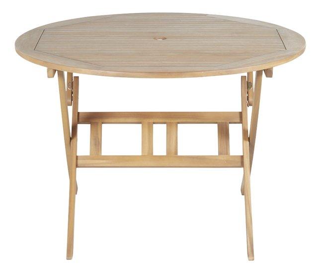 Table de jardin acacia Ø 110 cm