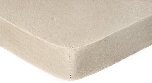 Image pour Sleepnight Drap-housse hauteur des coins 25 cm café au lait en satin de coton 140 x 200 cm à partir de DreamLand