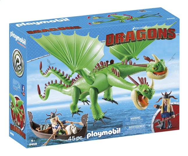Image pour PLAYMOBIL Dragons 9458 Kognedur et Kranedur avec Pète et Prout à partir de DreamLand