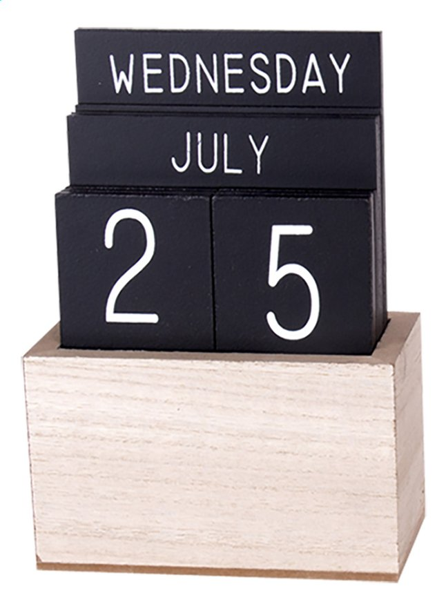 Afbeelding van Houten kalender zwart from DreamLand