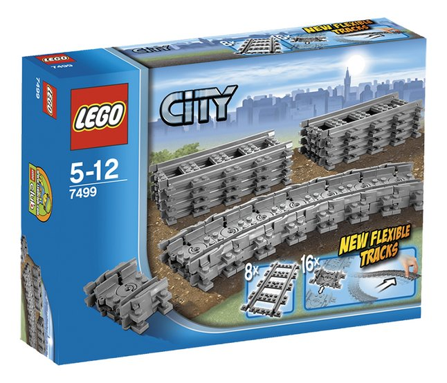 Afbeelding van LEGO City 7499 Flexibele rails from DreamLand