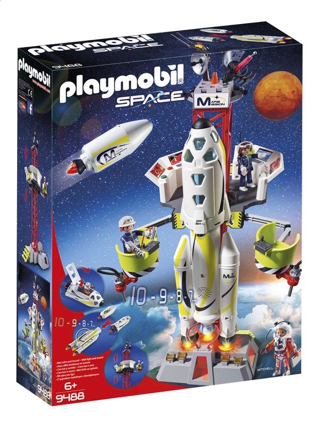 PLAYMOBIL Space 9488 Fusée Mars avec plateforme de lancement