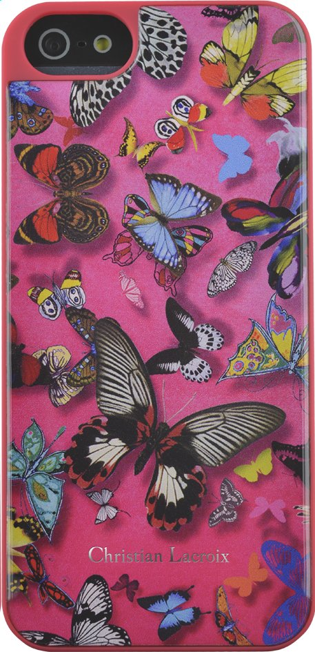 Afbeelding van Backcover voor iPhone 5/5S/SE Butterfly Christian Lacroix roze from DreamLand