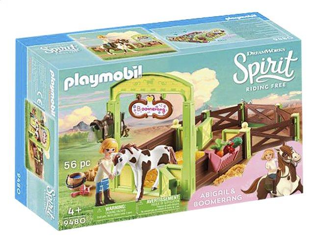 PLAYMOBIL Spirit 9480 Abigail & Boomerang met paardenbox