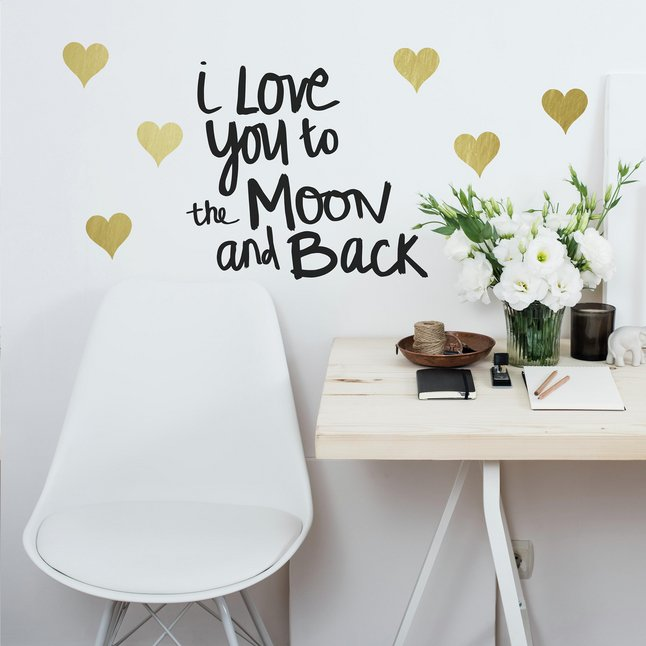 Afbeelding van Muursticker RoomMates Love you to the Moon from DreamLand