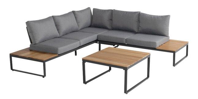 Hartman loungeset Santo antraciet/hout