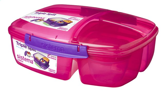 Afbeelding van Sistema lunchbox Trends Triple Split roze from DreamLand