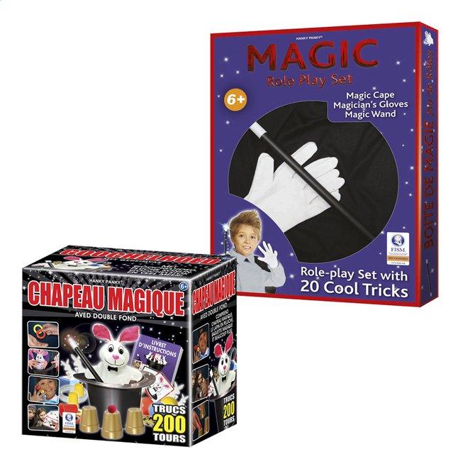 Afbeelding van Hanky Panky magische goochelhoed + Goochelverkleedset MAGIC from DreamLand