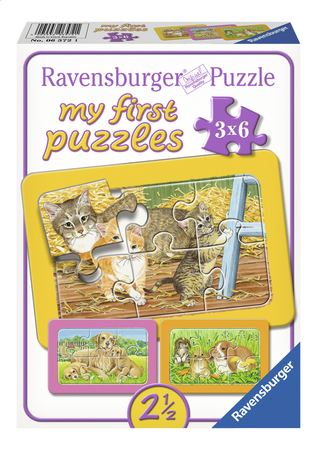 Afbeelding van Ravensburger Puzzel 3-in-1 My First De liefste huisdieren from DreamLand