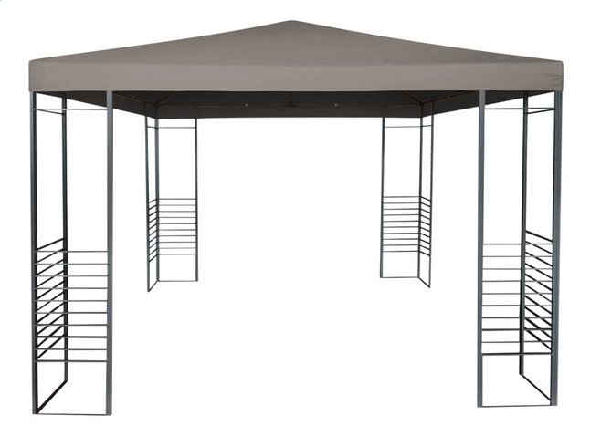 Partytent Gazebo taupe 3 x 3 m