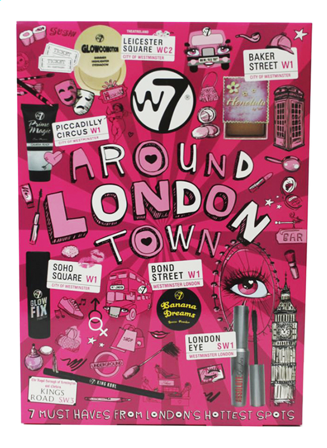 Afbeelding van Geschenkset W7 make-up Around London Town from DreamLand
