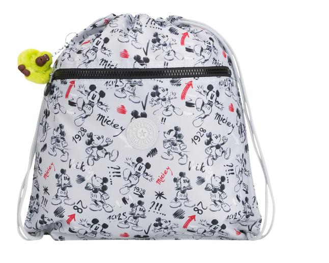 Kipling sac de gymnastique Supertaboo Mickey Sketch Grey