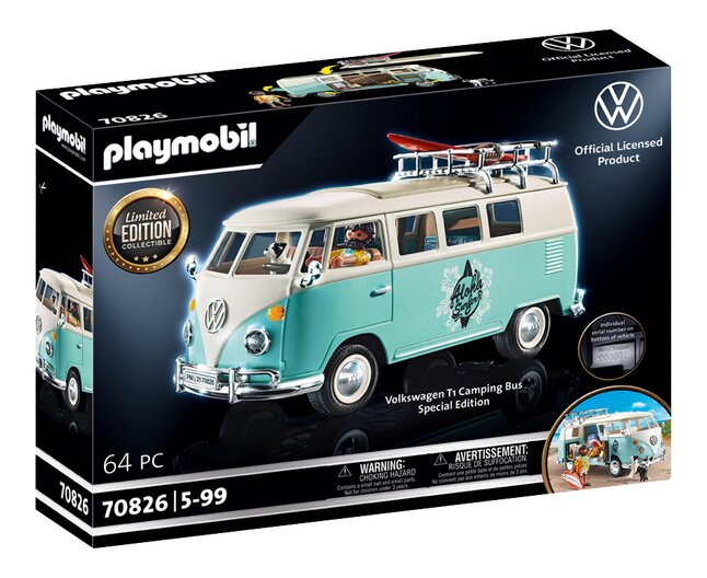 PLAYMOBIL VW 70826 Volkswagen T1 Campingbus - Special Edition