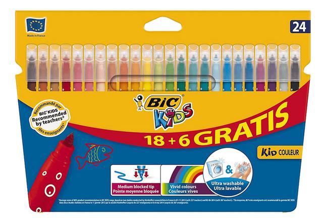 Bic Kids feutre Kid Couleur - 24 pièces