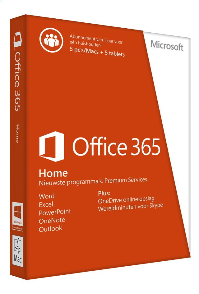 Afbeelding van Microsoft Office 365 Home NL from DreamLand