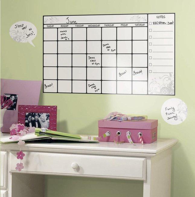 Afbeelding van Muursticker RoomMates maandplanner whiteboard from DreamLand