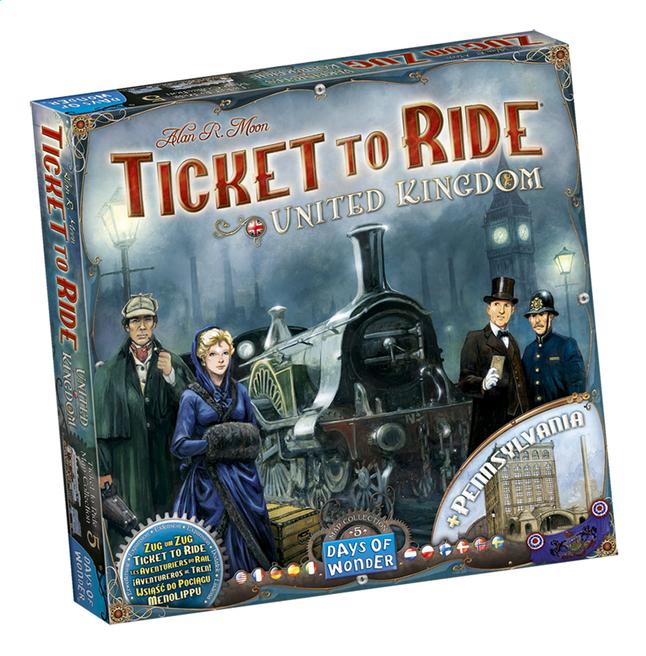 Afbeelding van Ticket To Ride uitbreiding: United Kingdom en Pennsylvania from DreamLand