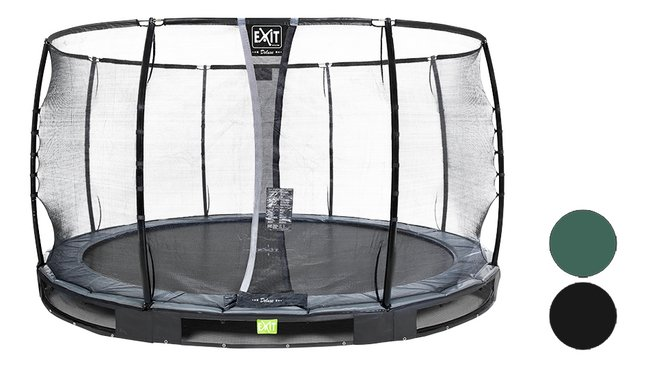Afbeelding van EXIT inbouwtrampoline met veiligheidsnet Elegant Ground Premium Deluxe Ø 3,66 m from DreamLand