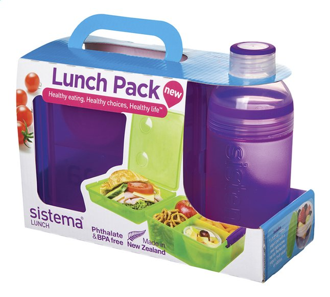 Afbeelding van Sistema brooddoos en drinkfles 480 ml Lunch Pack paars from DreamLand