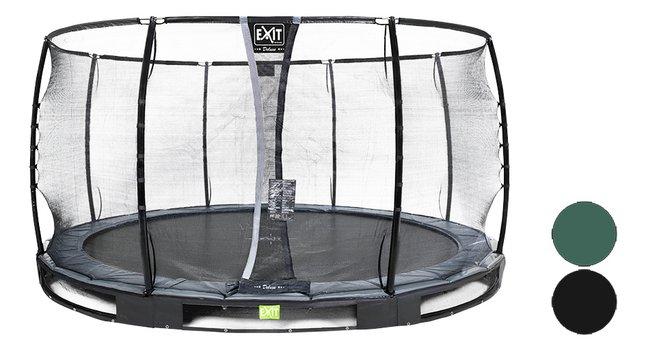 Afbeelding van EXIT inbouwtrampoline met veiligheidsnet Elegant Ground Premium Deluxe Ø 4,27 m from DreamLand
