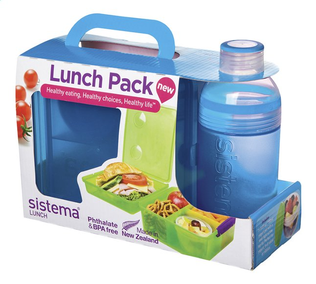 Afbeelding van Sistema brooddoos en drinkfles 480 ml Lunch Pack blauw from DreamLand