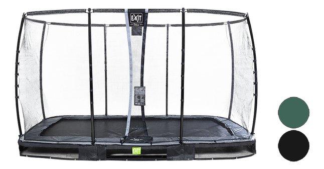 Afbeelding van EXIT inbouwtrampoline met veiligheidsnet Elegant Ground Premium Deluxe L 3,66 x B 2,14 m from DreamLand